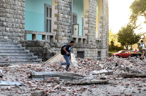アルバニアでM5.6の強い地震、過去20~30年で最大