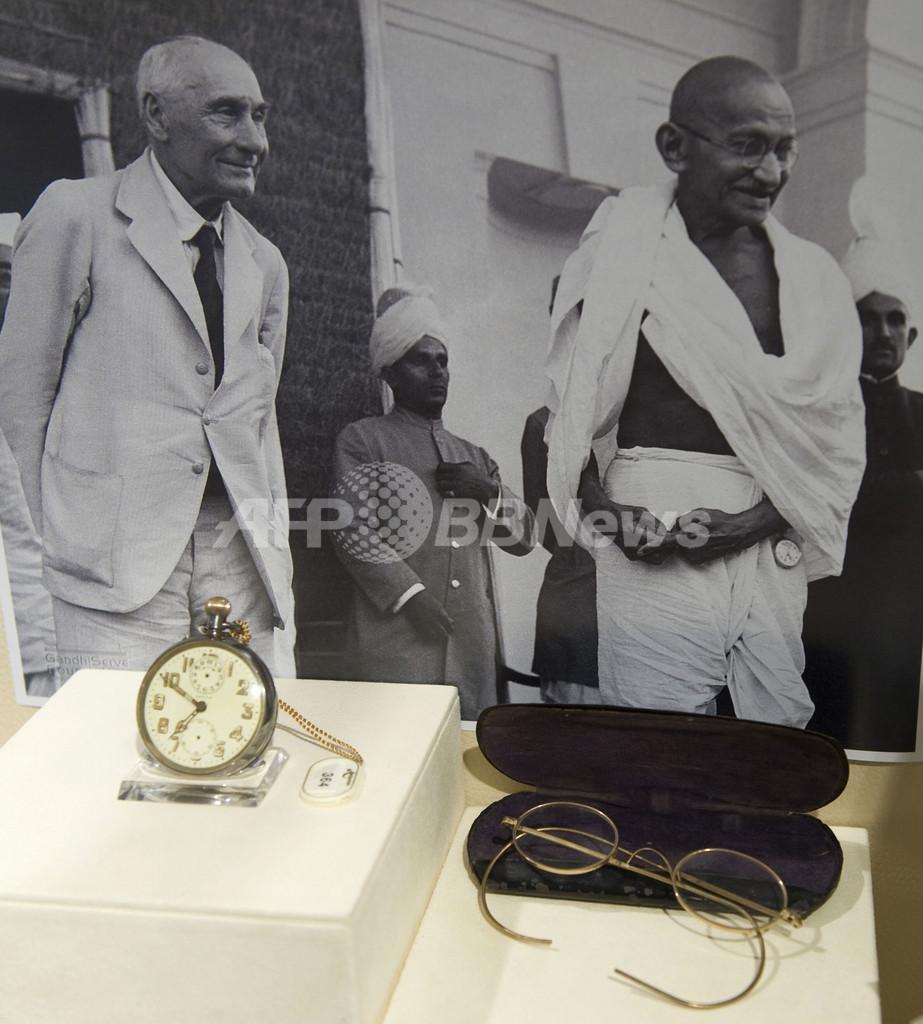 ガンジー遺品の所有者、競売を中止 インド政府に寄付へ