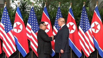 動画:史上初の米朝首脳会談始まる トランプ氏「素晴らしい関係」正恩氏「障害克服」