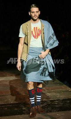 <08/09年秋冬ミラノ・メンズコレクション>ヴィヴィアン・ウエストウッド、新作を発表
