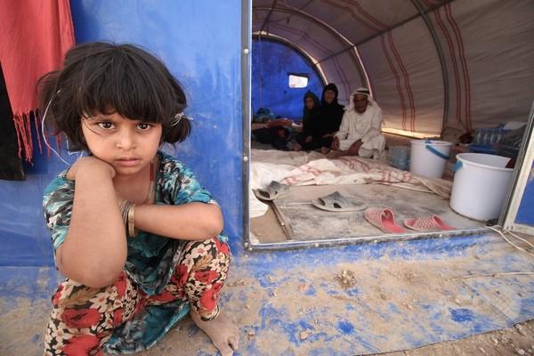 ファルージャから避難したイラク人、到着したキャンプもまた地獄