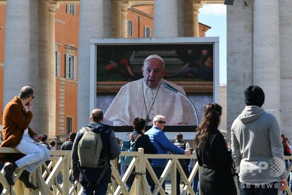 ローマ教皇、聖職者らに外出して新型コロナ患者と会うよう呼び掛け
