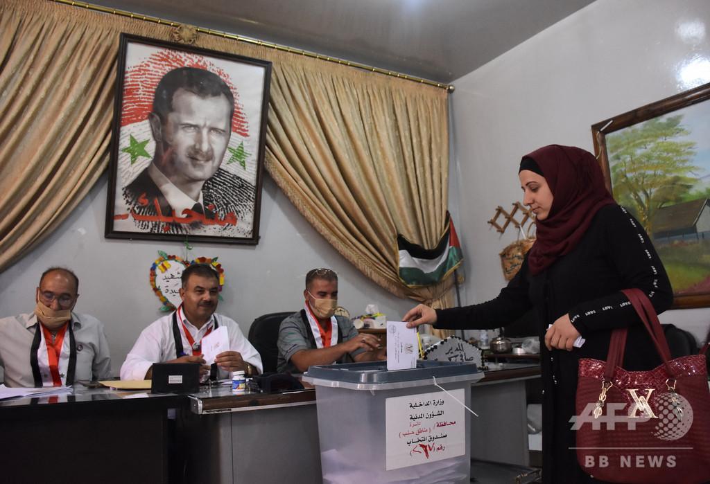 シリア議会選、大統領派が過半数獲得 反体制派「茶番」と非難