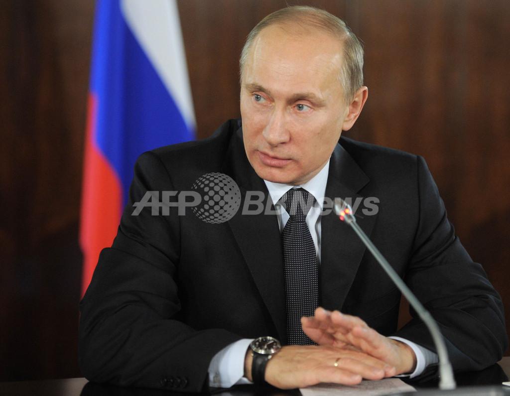 プーチン首相、米政府を非難「民衆をデモに仕向けた」
