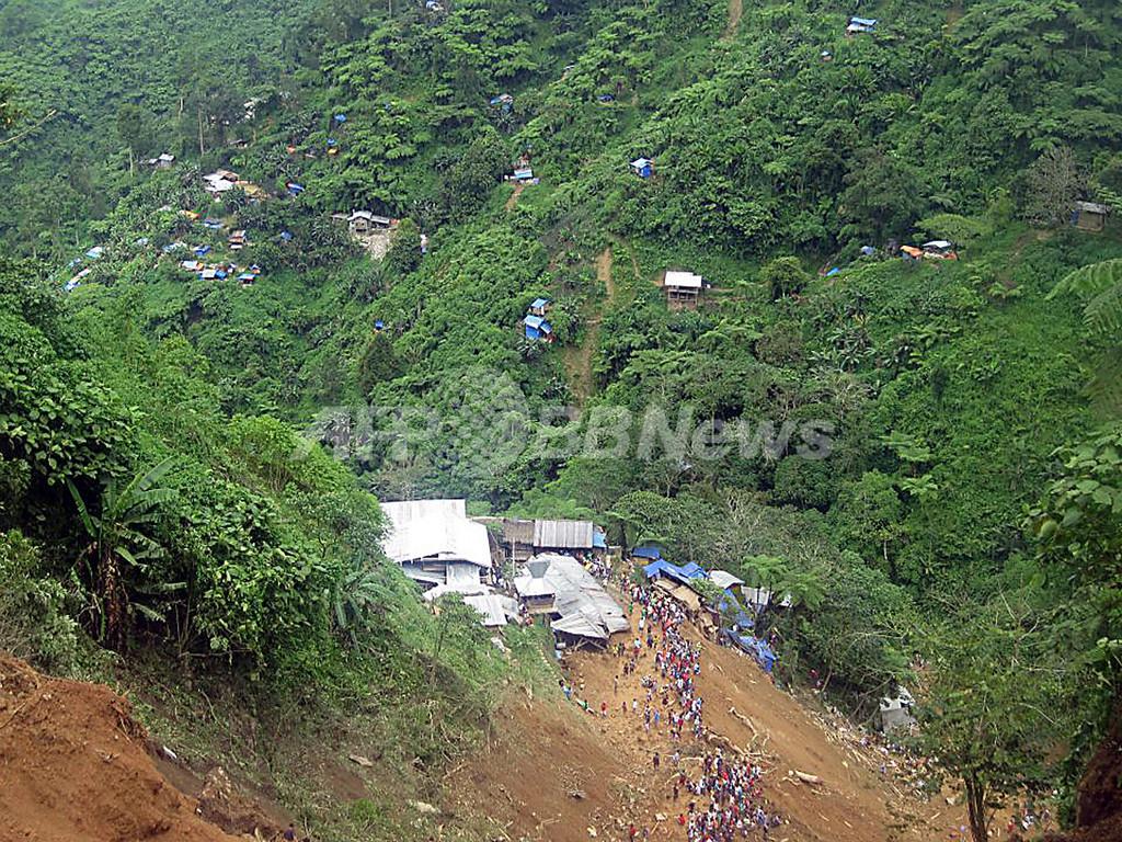 フィリピン南部で地滑り 25人死亡、150人行方不明
