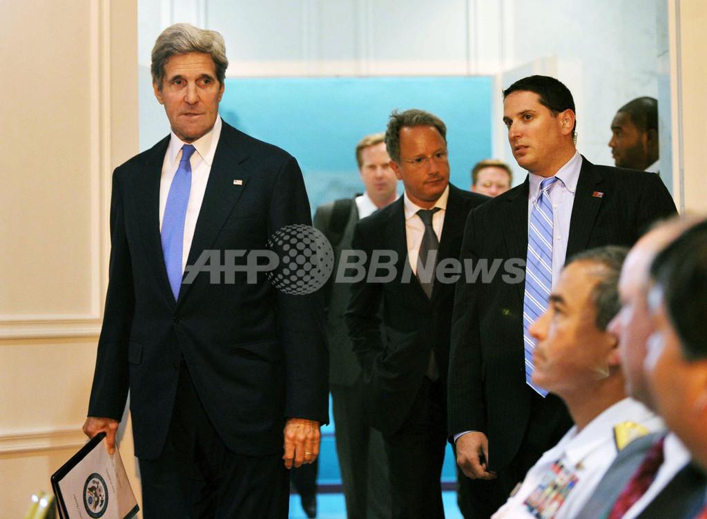 中東和平交渉、再開に向け一歩前進 ケリー米国務長官が発表