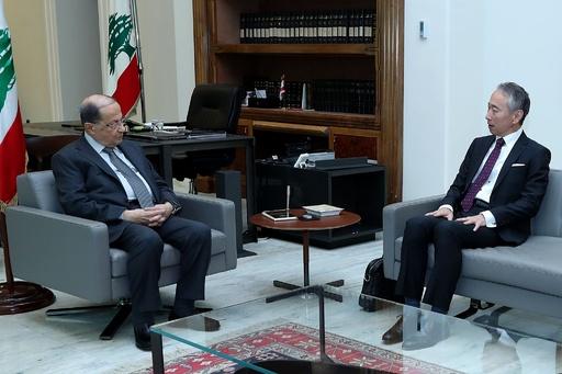 レバノン大統領、日本大使と会談 ゴーン被告の会見前日