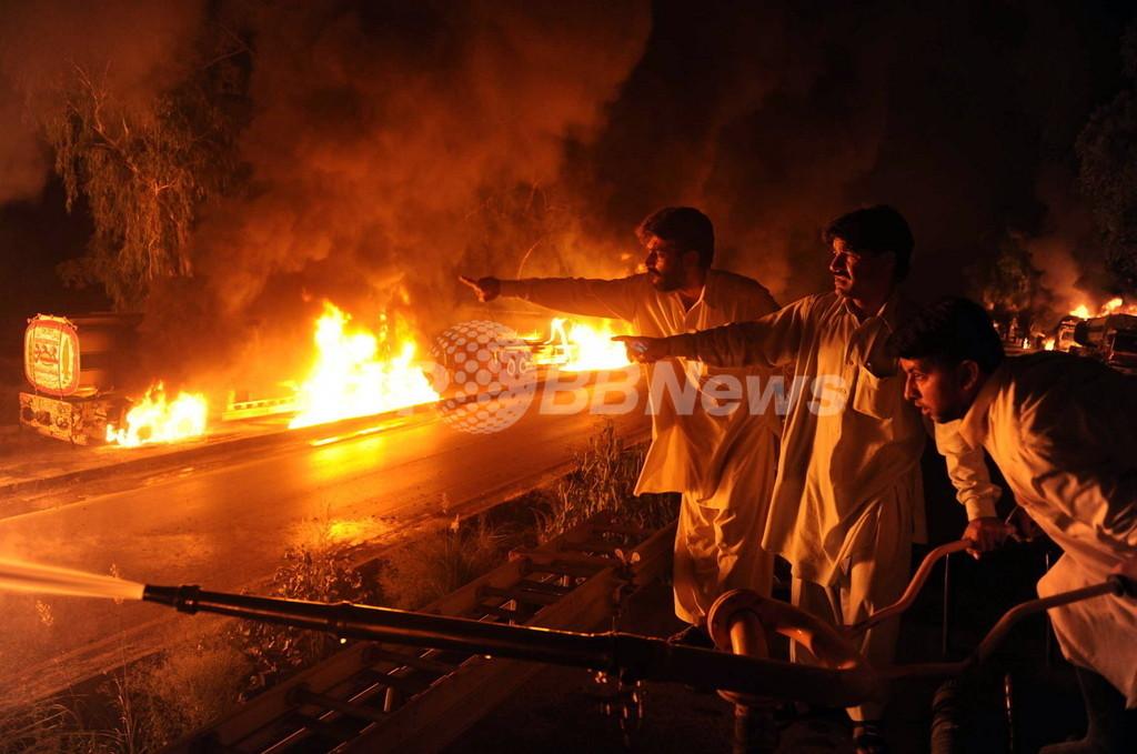 タリバンがパキスタンでNATOの燃料輸送車を襲撃、1週間で4度目