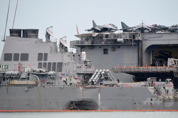 相次ぐ米軍艦の衝突事故、サイバー攻撃が原因との声も