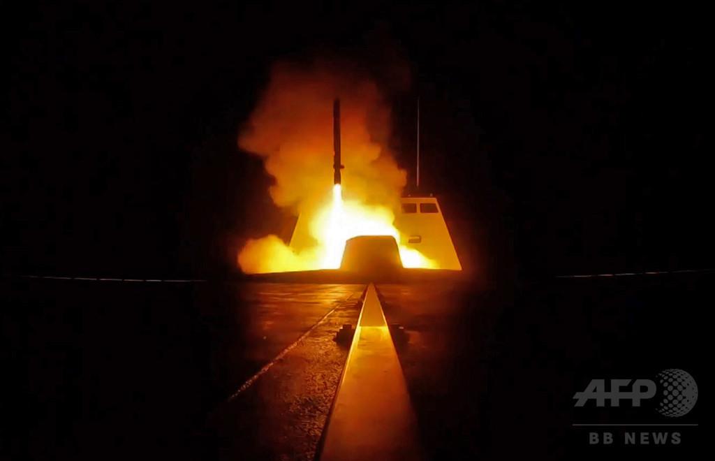シリアに発射されたミサイル100発超、「かなりの数」は撃墜 ロシア