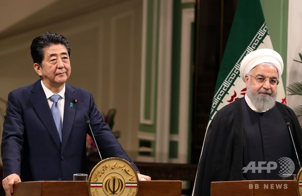 安倍首相、イランに中東和平で「建設的な役割」要請