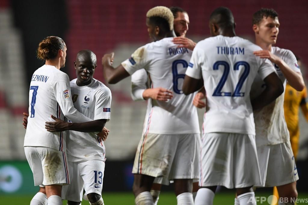 フランスが欧州NL4強1番乗り、カンテのゴールでポルトガル下す