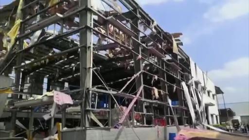 動画:化学工場で爆発、4人死亡 中国・広西チワン族自治区