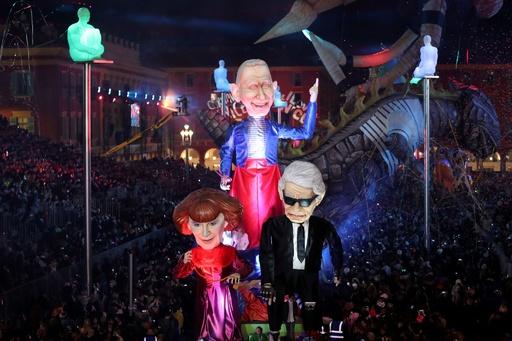 今年のテーマは「ファッションの王様」 仏ニースでカーニバル開幕