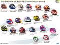 【写真特集】2019年F1世界選手権に参戦するドライバーのヘルメット