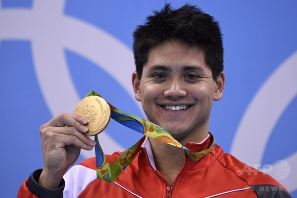スクーリングが男子100mバタフライで金、フェルプスら3人が同着銀メダル