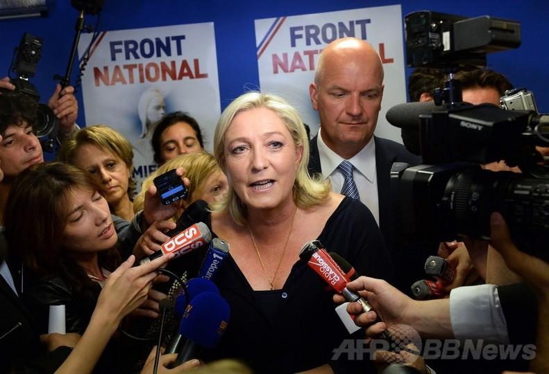 フランス政界に激震、欧州議会選で極右政党が首位