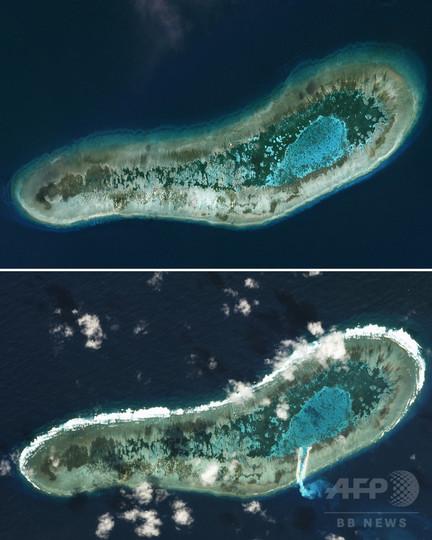 ベトナム、南沙諸島の岩礁でしゅんせつ作業開始 衛星画像で判明