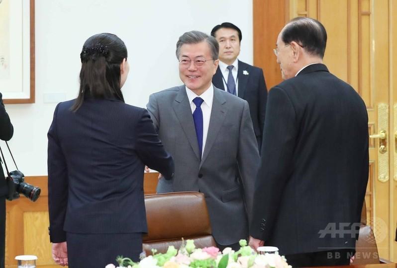 金正恩氏、韓国大統領に訪朝を要...