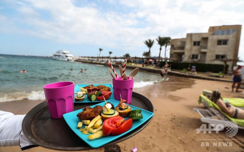 使い捨てプラ禁止と罰金、ごみ減に効果 エジプトのビーチリゾート