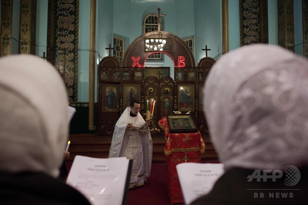 中国正教会に60年ぶり叙任聖職者、復活祭祝う