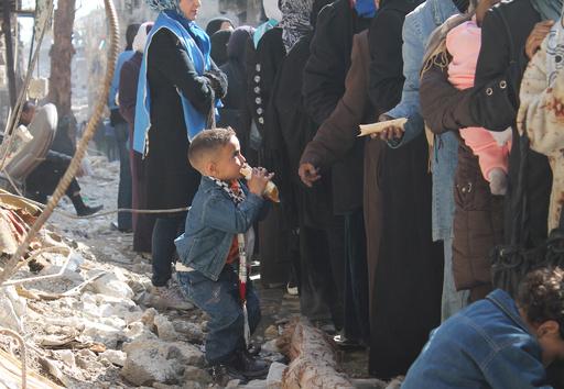 シリアの50万人に食糧支援届かず、WFP報告