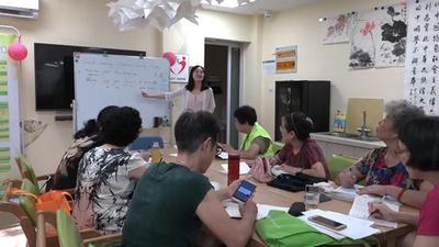 2022年アジア大会目指し、英語に挑戦する高齢者たち 杭州