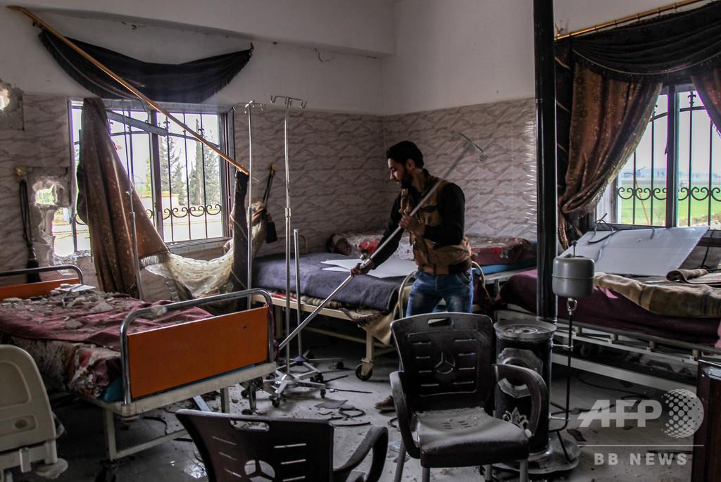 シリア北西部、爆撃で病院閉鎖相次ぐ 負傷者の治療困難に