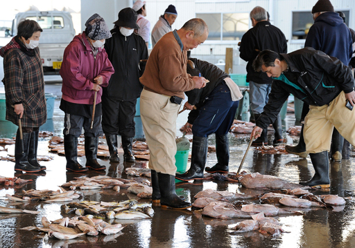魚介類にも放射線ヨウ素の暫定基準値、1キロあたり2000ベクレル