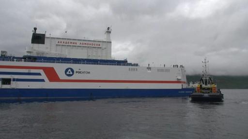 動画:ロシア初の水上浮揚型原発、稼働地の極東まで5000キロの航海へ