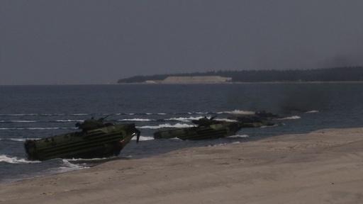 動画:米比合同軍事演習「バリカタン」、上陸作戦演習