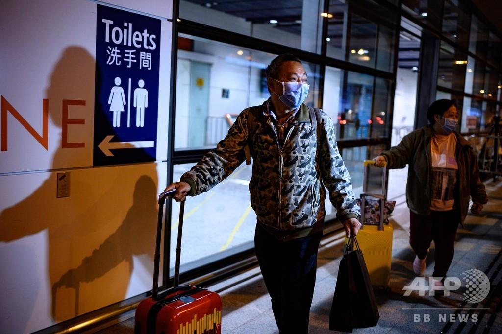 香港に足止めのクルーズ船に下船許可 乗員のウイルス検査後