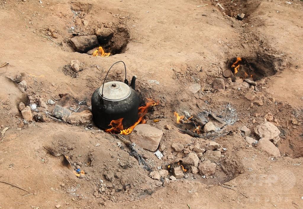 50年以上、地面から炎が上がり続ける空き地 中国・重慶