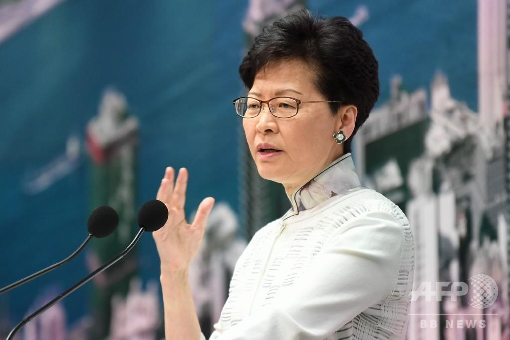 香港行政長官、「逃亡犯条例」めぐる混乱で「心の底から謝罪」