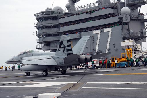 F/A-18C ホーネット、ジョージ・H・W・ブッシュから初発艦