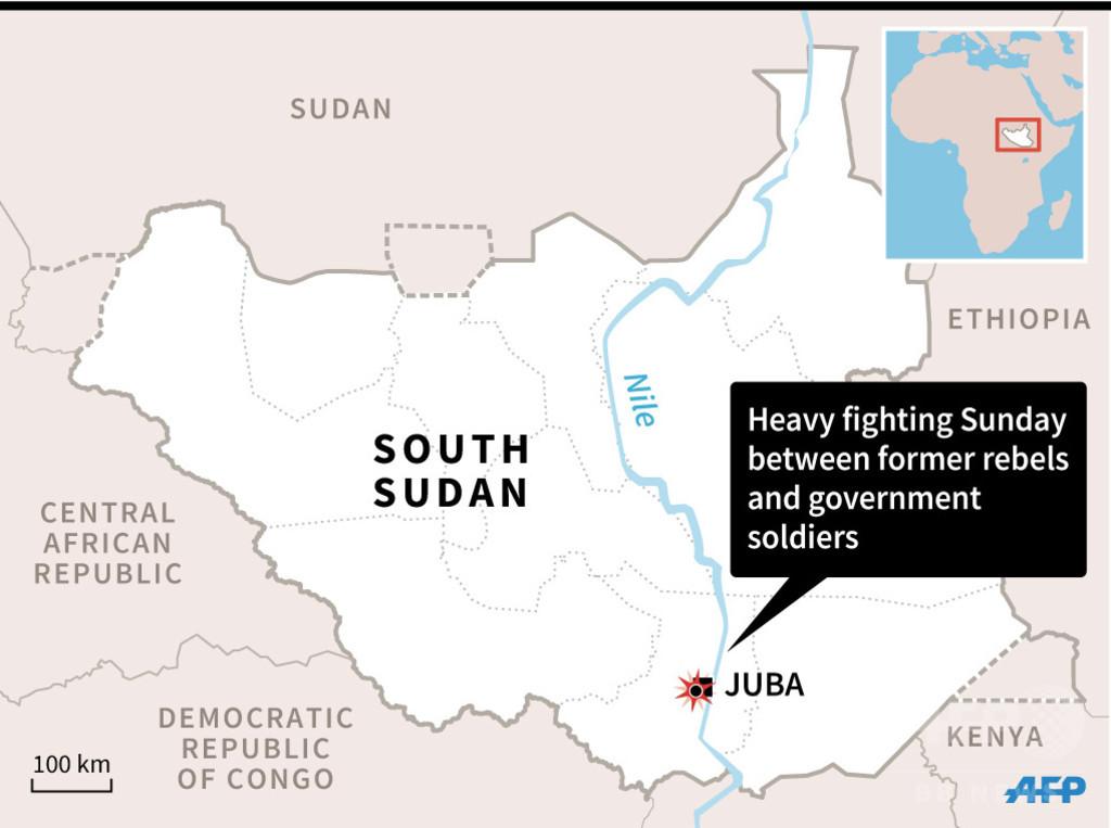 南スーダン首都で新たな戦闘、数千人避難 安保理が自制呼び掛け