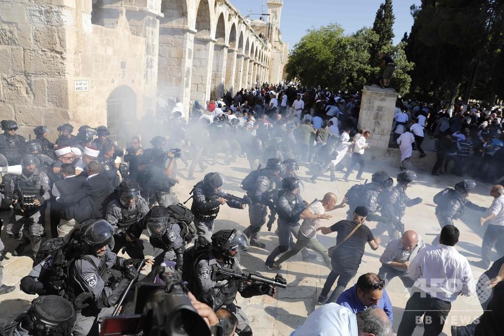 エルサレム聖地でイスラエル治安部隊とパレスチナ人ら衝突、祝日重なり緊張高まる