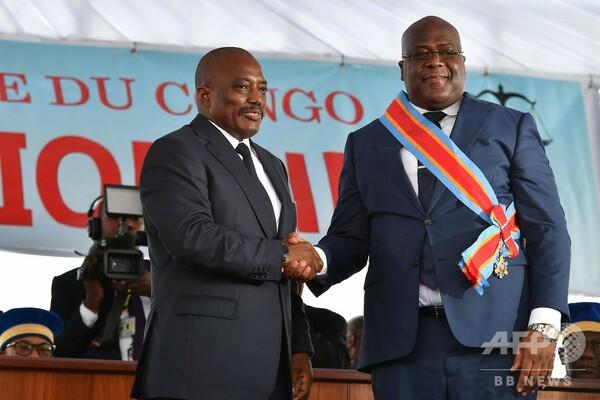 コンゴ民主共和国、チセケディ新大統領が就任宣誓 初の平和的政権交代
