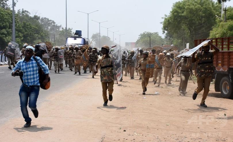 銅工場閉鎖求めたデモ隊に警察が発砲、12人死亡 インド南部