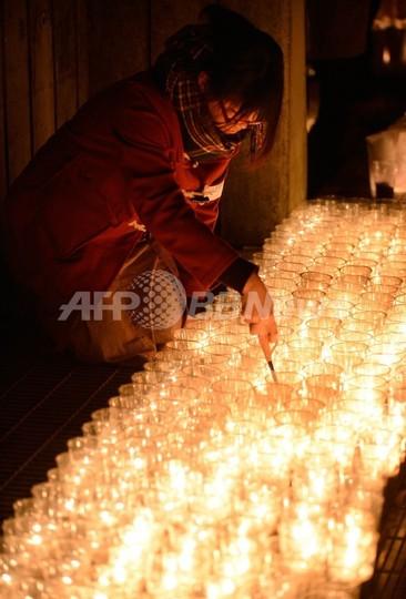 震災から2年、名取市で追悼イベント ろうそくの火に犠牲者想う