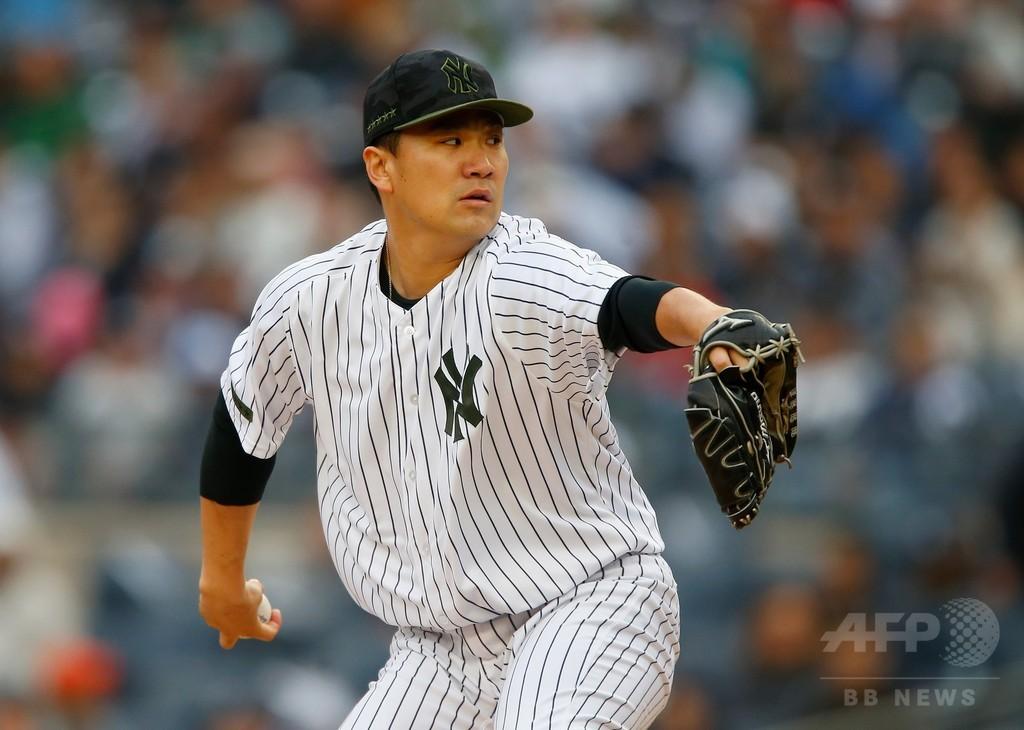 田中、大谷とのMLB初対戦で圧倒 6回1失点でヤンキース勝利