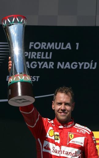ベッテル優勝、フェラーリはハンガリーGPで13年ぶりワンツー