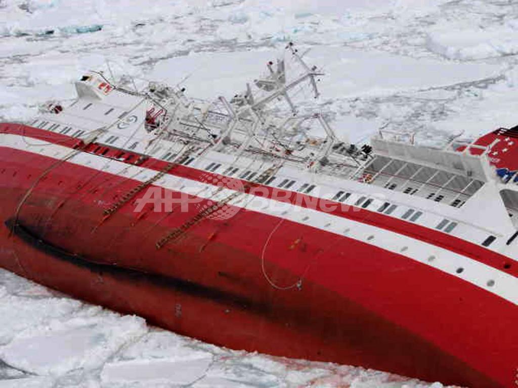 南極海の客船浸水事故、乗員乗客全員を救助