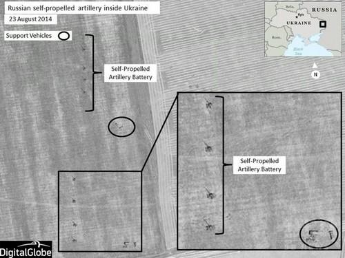 NATO、「露兵士1000人超がウクライナ侵入」 衛星写真公表