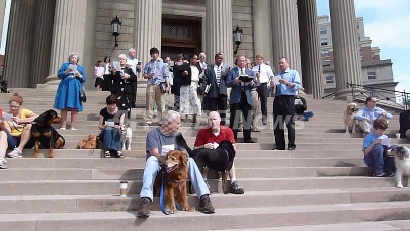 「ドッグ・ブレス・ユー」、犬たちにも祝福礼拝 米ワシントン