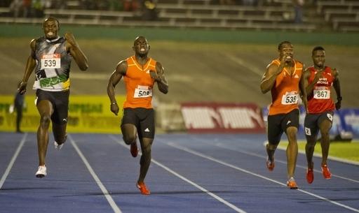 男子200メートルでもブレイクがボルトを抑え優勝、ジャマイカ選手権