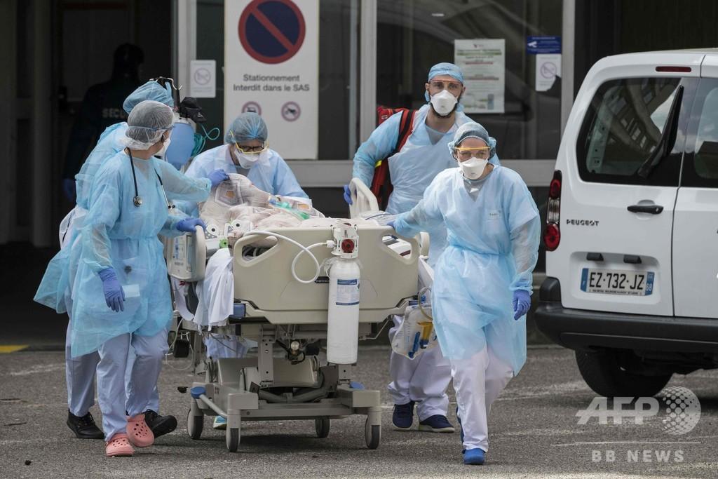 新型コロナ対応の医師死亡、フランスで初 外出制限の罰金最大44万円に