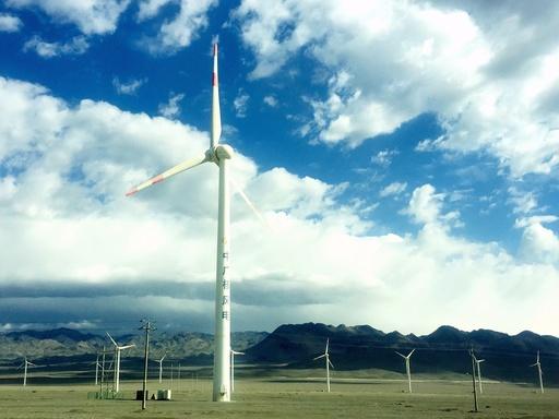 中国風力発電、発電量4057kw/hに