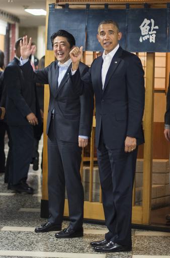 オバマ大統領、高級すし半分しか食べず?