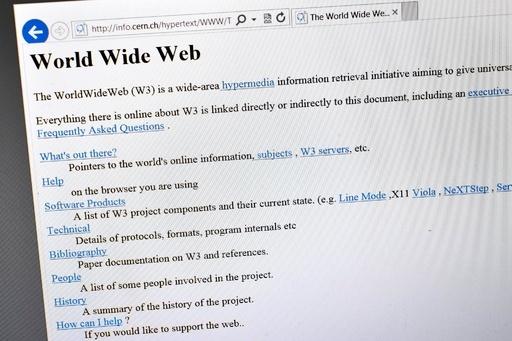 世界初のウェブページを再現、WWW開放20年を記念 CERN